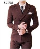 Männer casual wear in herbst 2017 Koreanische mode-trend der friseur kleinen anzug zweireiher business kleid jacke männer