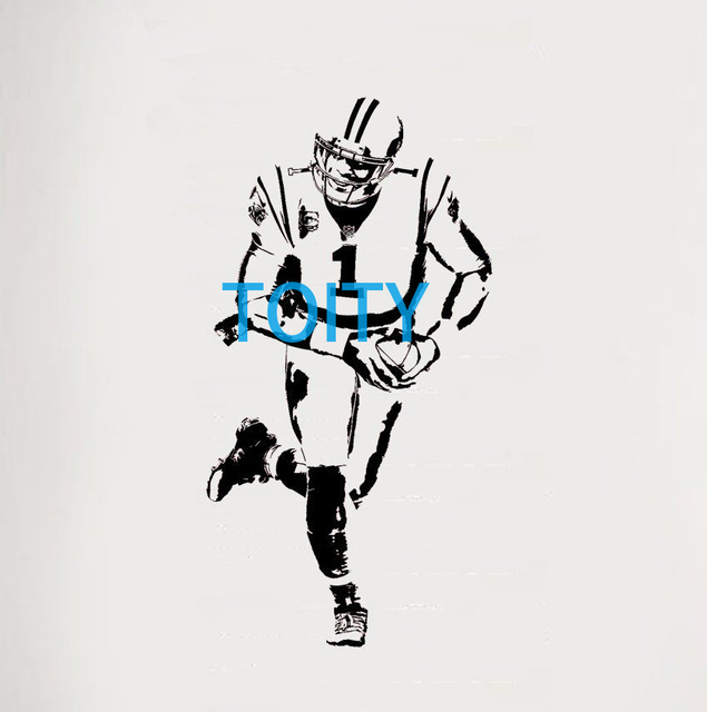 premium selection 9df23 ed042 Aliexpress.com : Buy Cam Newton Wall Sticker America Carolina Panthers  Vinyl Decal Sport Poster Boy Room Graphic Mural S M L from Reliable wall ...