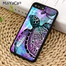 MaiYaCaa turtle shell colourful tie dye Phone Case Cover for iPhone 5 5s 6 6s 7 8 X XR XS max samsung galaxy S6 S7 S8 S9 Plus(China)