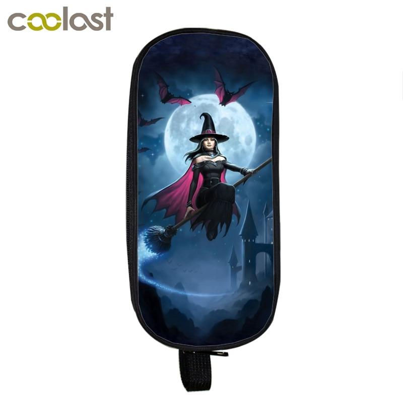 Cartoon Fairy / Witch / Mermaid Cosmetic Cases Pencil Holder Girls Children School Supplies Case Kids Makeup Bag Best Gift