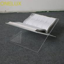 Плоский открытый прозрачный акриловый журнал поднос держатель, настольный Lucite Книга Стенд