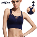 AKM High quality Women Autumn Patchwork Mesh Quick Dry Bra Push Up Shockproof Crop top High Impact Racerback Hollow out Shirt