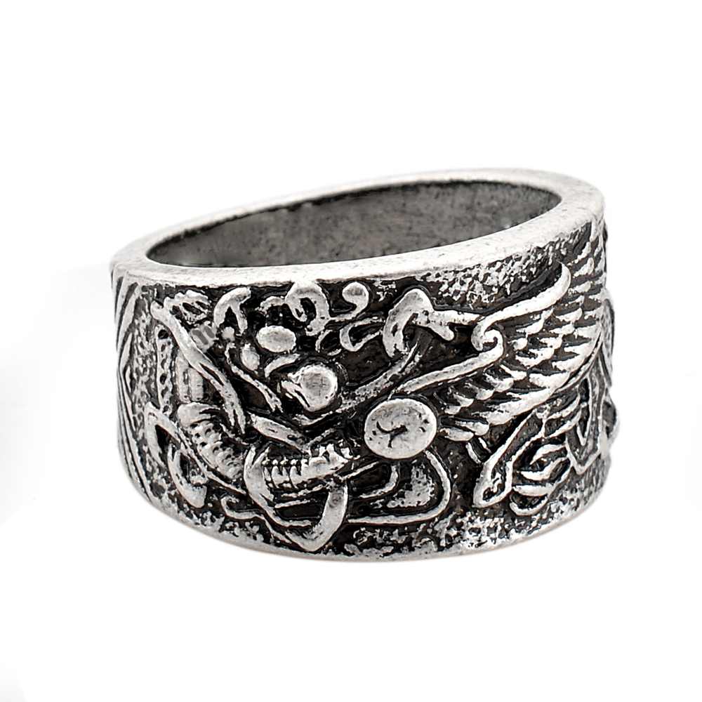 1pc Griffin Wolf Rings Celtic Symber Ring Viking Norse Vintage God Signet  Anel Bague Men Jewelry