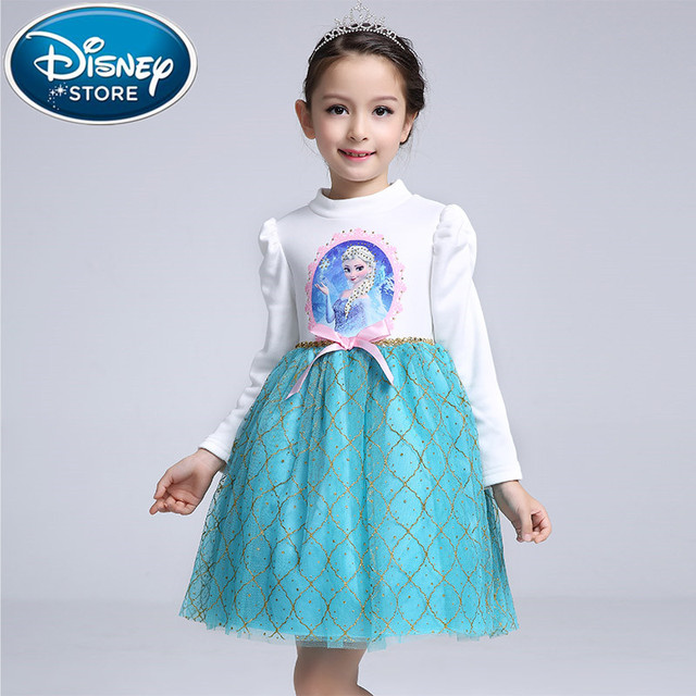 Disney Frozen dress Princess Girl kids Baby Clothing fever anna elsa Frozen Cosplay Costume fantasia Vestido  sc 1 st  AliExpress.com & Disney Frozen dress Princess Girl kids Baby Clothing fever anna elsa ...