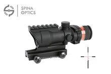SPINA OPTICS Tactical Trijicon acog styl 4x32 puškohled červené optické vlákno acog styl lovecké střelby
