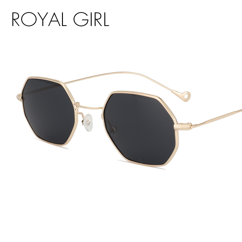 ROAYL GIRL Designer Women Sunglasses Vintage Retro Metal Square 2017 New Ultra-light Small Frame Glasses ss131