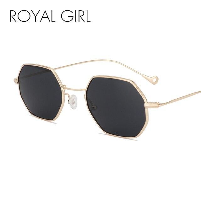 ae902ea1a84 ROAYL fille Designer femmes lunettes de soleil Vintage rétro métal carré  2017 nouveau Ultra-léger