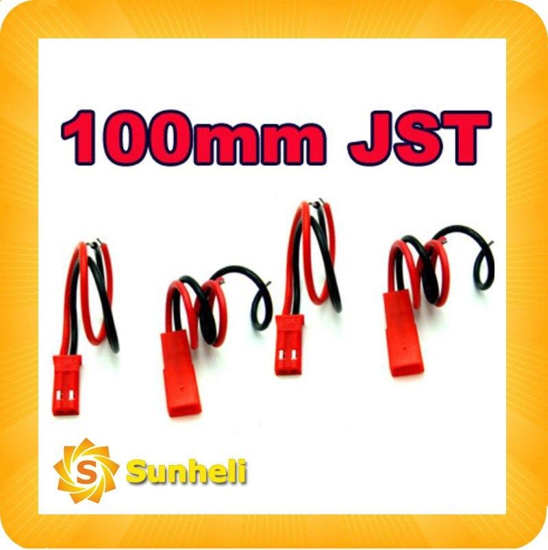 100 пар х 100 мм 100 мм 10 см JST Разъем для RC Lipo разъем батареи ГС Воздушные змеи