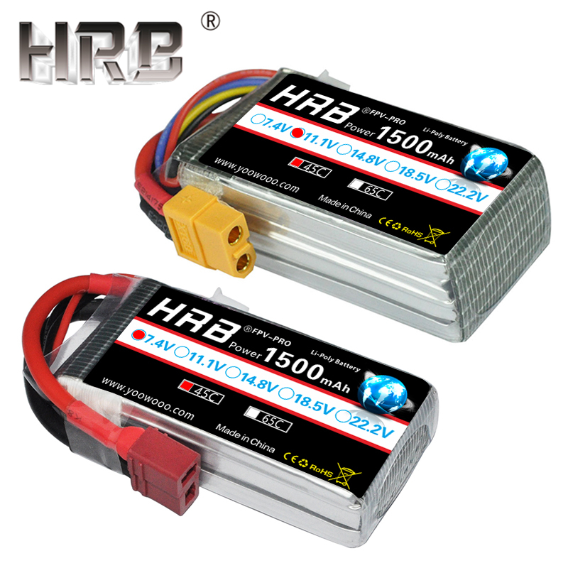 HRB 7.4V <font><b>1500mAh</b></font> 11.1V <font><b>Lipo</b></font> Battery 45C 2S 3S T XT60 Deans RC Parts 14.8V 18.5V 22.2V 4S 5S <font><b>6S</b></font> For Wltoys 12428 Drone CG033 Cars image