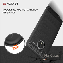 For Motorola Moto G5 / plus case High quality Environmental Carbon Fiber Case Soft Rubber back Cover Telefon