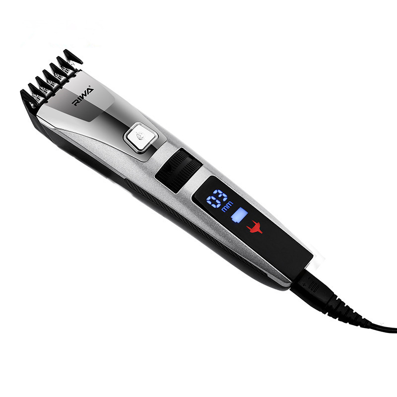 LED Display Professional Electric Men's Hair Trimmer Cutter Rechargeable Haircut Cutting Machine Hair Clipper for Adult Children kiki hair clipper rechargeable professional hair cutter hair trimmer lithium battery ng 888 with lcd display and tool box