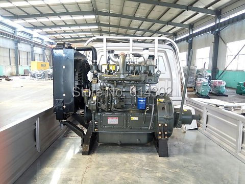 26kw diesel engine 490P Stationary Power weifang diesel engine with clutch connecting water pump diesel engine parts fit for weifang ricardo r4105 series diesel generator engine