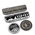 Vintage 1941 75 Aniversario de Cinco Estrellas TRAIL RATED Divisa del Metal del Cromo Styling Car Cuerpo Pegatina para Jeep Cherokee Wrangler Brújula