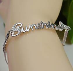 Гарантия однотонная 925 пробы Silver, солнечный браслет, 5,8 Г, BR31301