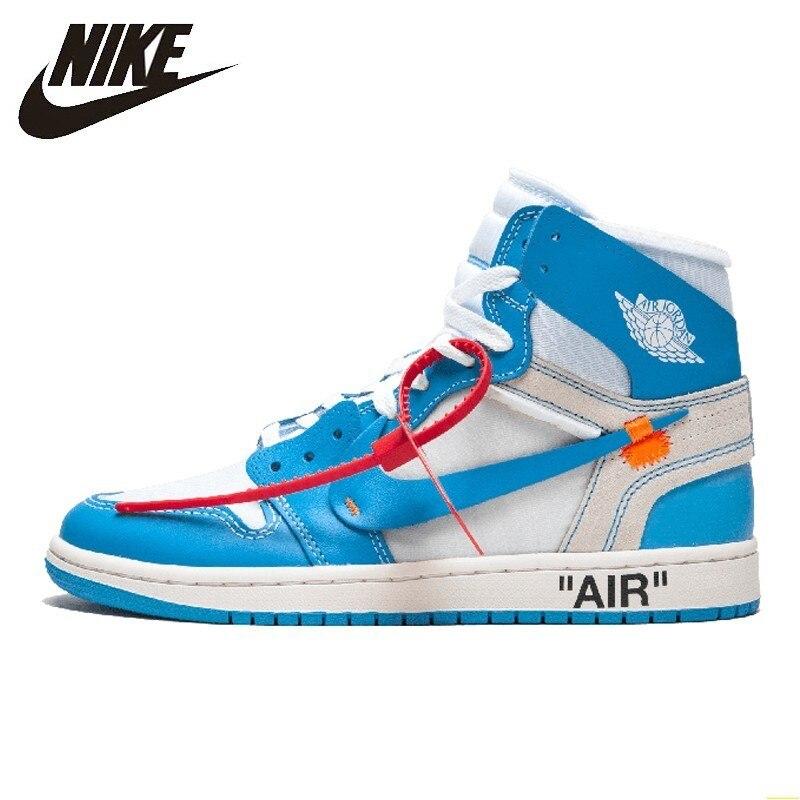 Nike Air Jordan 1 X blanc cassé Conjointement Aj1 basketball pour hommes Chaussures Confortables En Plein Air chaussures De Sport # AQ0818-148