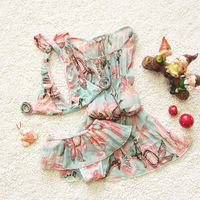 3pcs Set Children S Swimsuit Girls Bikini Swimwear 2017 Bikini Girl Beahwear Dress Children Baby Kid