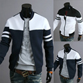 Новинка мода свободного покроя пиджаки мужчины куртка пальто горячая распродажа лоскутное slim-подходят мужчины куртки Chaqueta де-лос-hombres 13J02