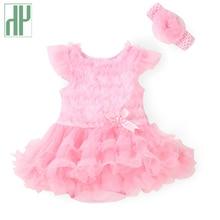 Bébé filles dress 2016 summer infant dentelle dress enfants fleur princesse de mariage robes bébé fille en bas âge robes enfant d'anniversaire dress