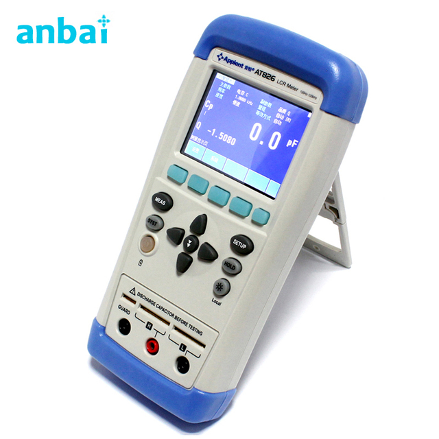 LCD Hand-held Digital LCR Meter Portable LCR meter AT825