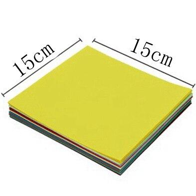 A4 цветная оберточная бумага копировальная бумага для печати 80 г Детский Цветной Материал оригами Бумага ручной работы картонная посылка - Цвет: 15x15cm 50sheets
