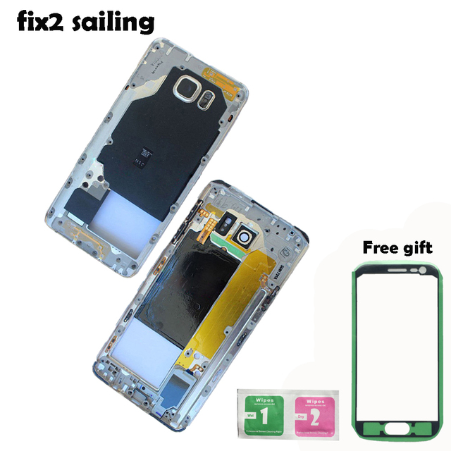 Battery Cover Back Middle Frame Housing Bezel Camera Lens For Samsung GALAXY Note5 N920 N920i N920A Black