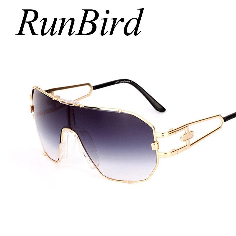 Runbird único fresco las gafas de sol de las mujeres gran marco de ...