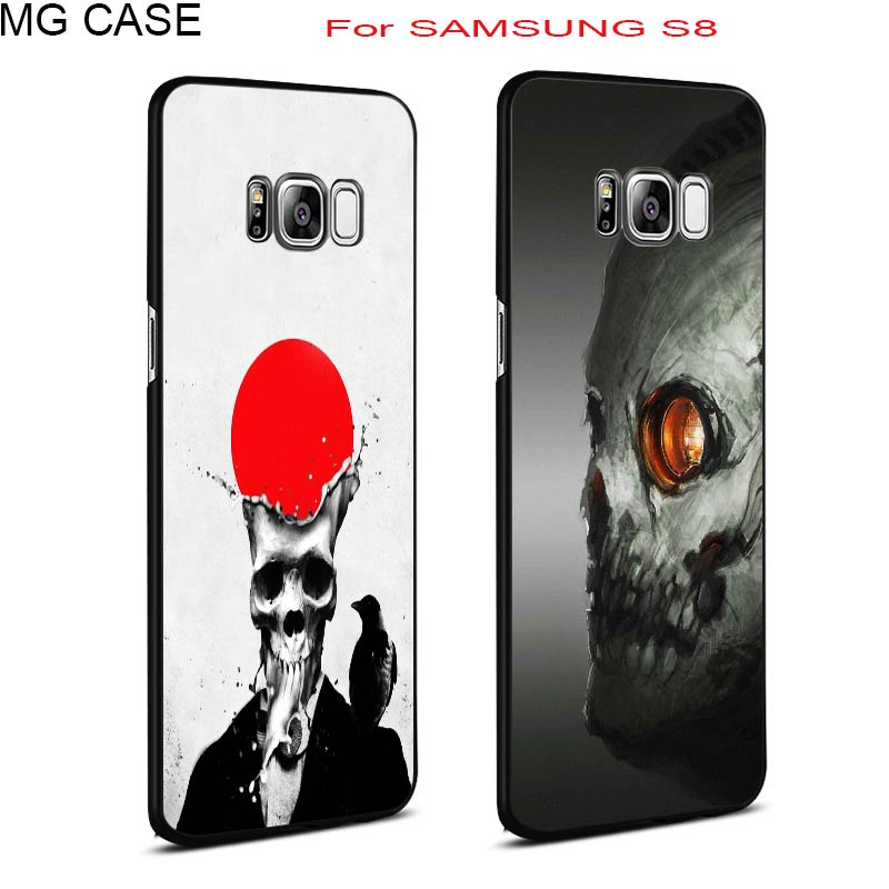 Halloween Human Funny Spoof Skull Head Hard PC Phone Case Bag Cover Shell For Samsung Galaxy Note8 S6 S6edge S7edge S8 S8Plus