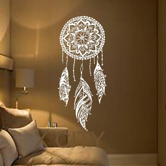 Dreamcatcher Wall Art aliexpress : buy dream catcher art feather vinyl sticker boho