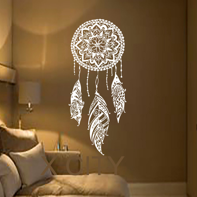 Dream Catcher Kunst Feather Vinyl Aufkleber Boho Dreamcatcher ...