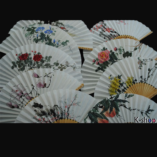 Free shipping Entirely Made By Hand, Korean Traditional Artists, Calligraphy Work, Folding Fans  ,wholesale,mix SH099