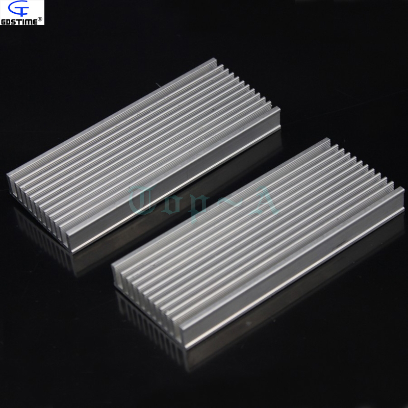 Gdstime 1piece 120x50x12mm Aluminum Heatsink Radiator Router Heat Sink Chip Electronic Products Cooling Fan