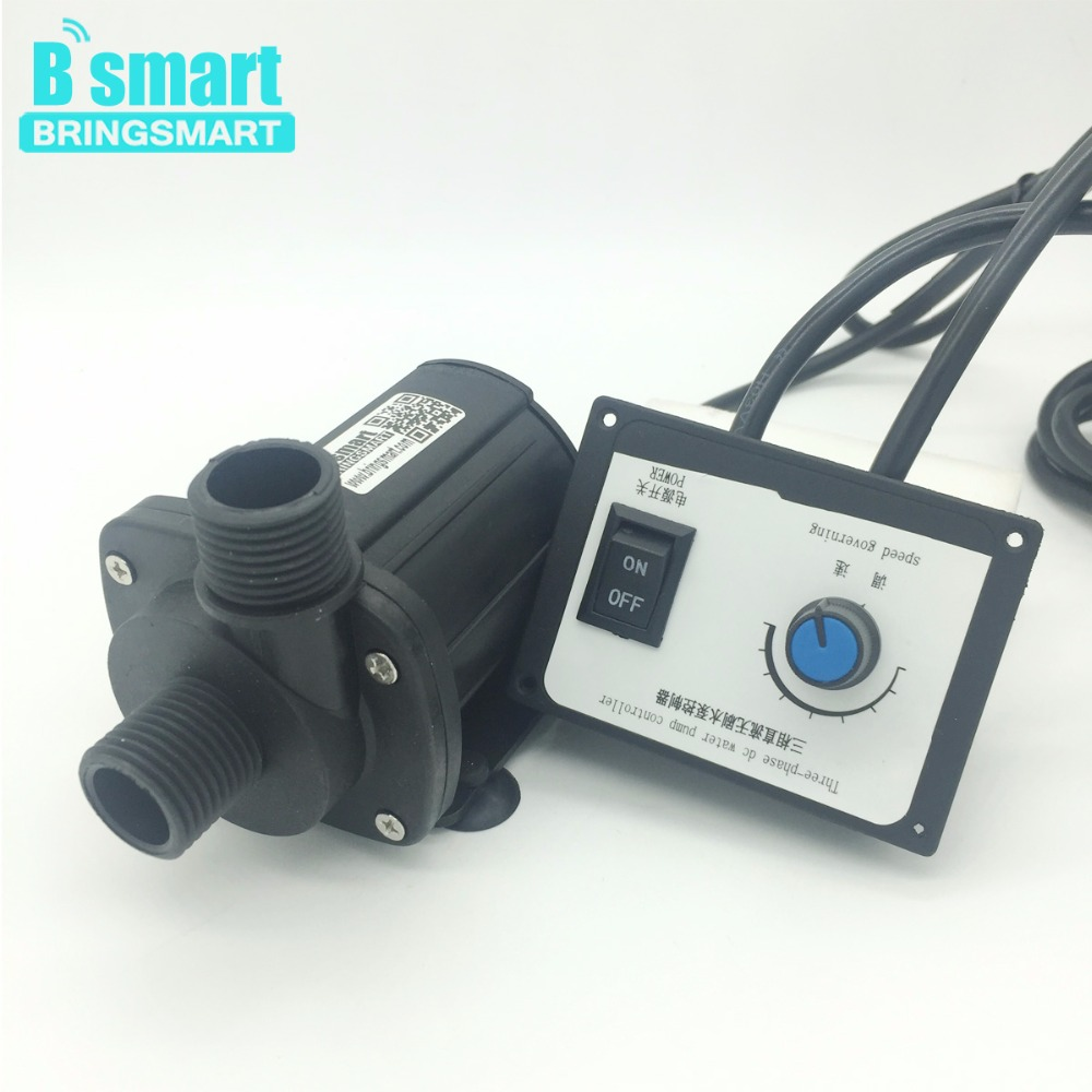 Bringsmart JT-1000B3 Brushless Pump 3000L/H 8M 24V DC Pump Booster Adjustable Speed 12V Water Pump With Speed Controller bringsmart jt 1000a3 3000l h 7m mini brushless booster pump 12v dc water pump speed controller 24v submersible fountain pump