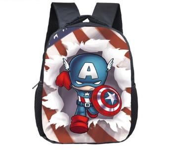 c8fa05c444c 12 pulgadas vengadores Capitán América mochila mochilas de niñas y niños