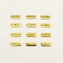 Jewelry Female The Old Gold Letters Trust Hope Blessed Tag Diy Accessories