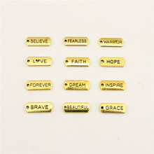 Jewelry Female The Old Gold Letters Trust Hope Blessed Tag Diy Jewelry Accessories Diy Accessories(China)