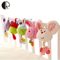 Soft Plush Musical Baby Rattles Mobiles Stuffed Toy With BB Device Stroller Hanging Bed Dolls Rabbit Educational Toy 0-12 Months