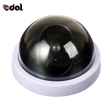 Simulated Security Camera Fake Security Dome Camera with Flash LED Light White Color Simulate Min Camcorders