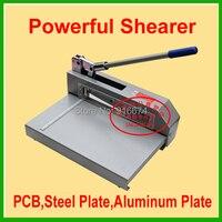 Fast Free shipping Powerful Shear Knife Paper Cutter PCB Board Steel Plate Shearer Cut Aluminium Sheet Cutting Machine