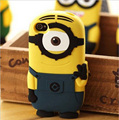 Hot New Arrival Cute Cartoon Model Silicon Material Despicable Small Yellow Minions Case for Samsung Samsung Galaxy S4 Case