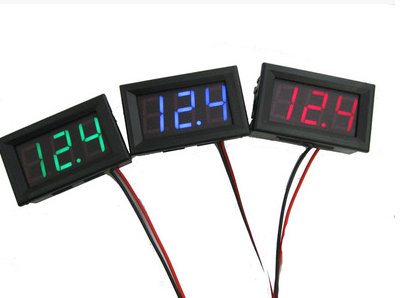 10pcs 0.56 inch Mini DC4.5V-30V LED Panel Voltage Meter Digital LED Display Voltmeter Motorcycle Car ( Red Color)
