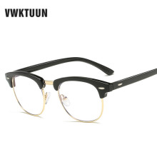 VWKTUUN Computer Glasses Frame Blue Film Goggles Half Plain Optical Eyeglasses Square Frames