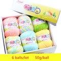 6balls/lot 73 Colors Milk Cotton Yarn Baby Wool Yarn DIY Knitting Children Sweater Hat Hand Knitted Yarn Knit Blanket Crochet