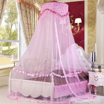 coxeer Luxury Princess Mosquito Net Quick Easy Installation Breathable Bed Canopy Polyester Hung Dome Mosquito Net Klamboe Hot