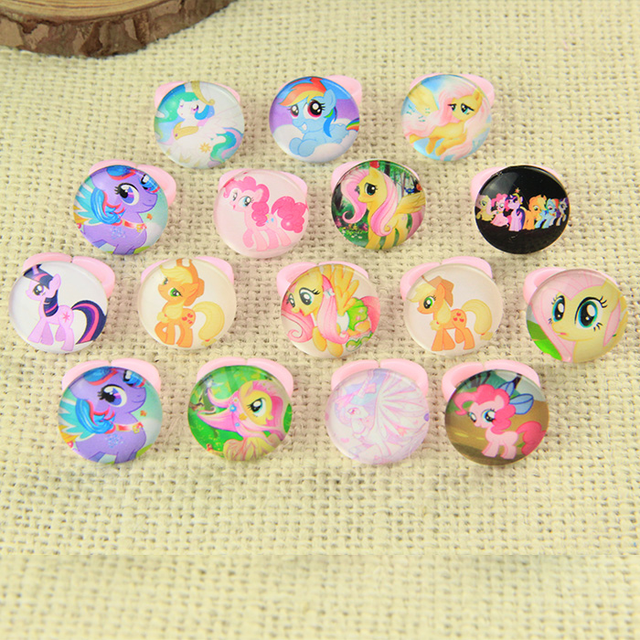1pcs New Snow Romance Children Cartoon Ring Princess Aisha Little Ma Baoli Random Color, Can Not Choose Colors And Styles Skilful Manufacture