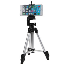 Promo offer Travel Camera Tripod Portable Professional Aluminum Telescopic Camera Tripod Stand Holder For Smart Phone iPhone Samsung