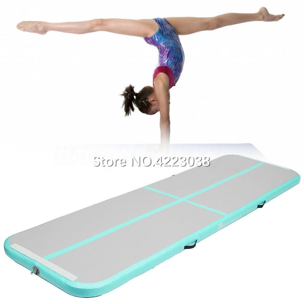 Free Shipping 4m*1m*0.1m Inflatable Gymnastics AirTrack Tumbling Air Track Floor Trampoline for Home Use/Training/Cheerleading цена