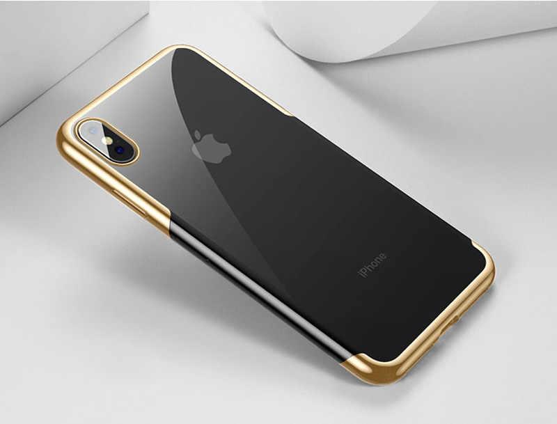 Mềm silicone Điện Thoại Di Động Trường Hợp đối Với Samsung Galaxy S8 S9 Cộng Với Lưu Ý 8 9 S8Plus S9Plus Note8 Note9 rõ ràng Siêu mỏng 360 Bìa