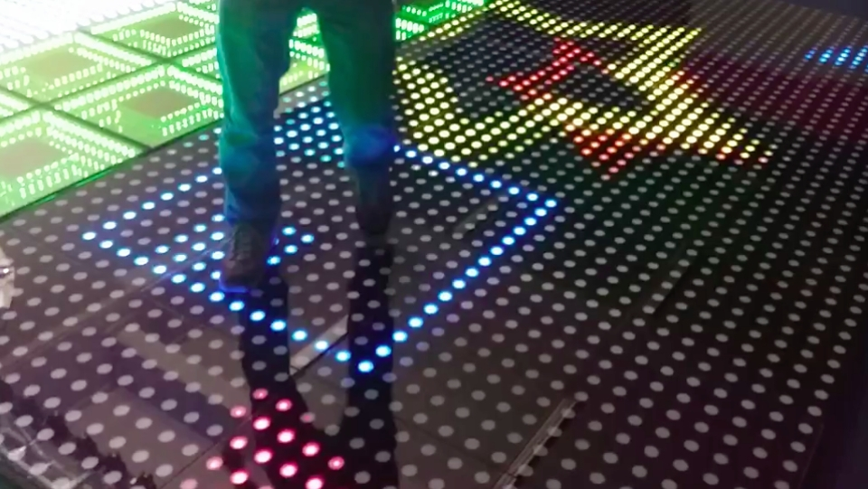 2pcslot NEW stage Interactive LED Dance Floor Light
