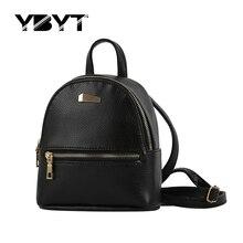 YBYT marque 2017 nouveau petit solide preppy style sac à dos de haute qualité femmes du shopping sacs à dos dames célèbre designer voyage sac
