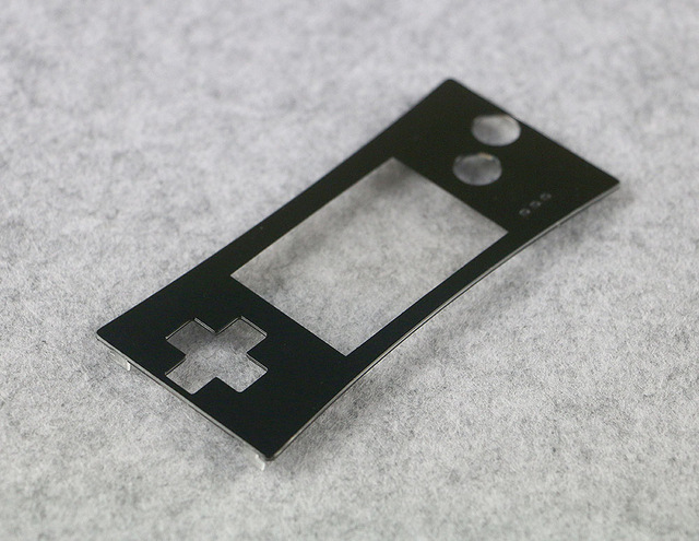 Replacement Black Front Shell Faceplate Case Cover Part for Nintendo Gameboy Micro GBM